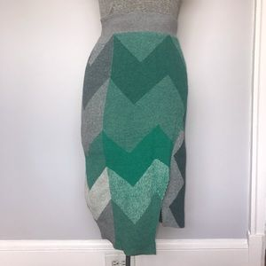 Anthro Moth Chevron Sweater Skirt